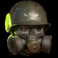 FO76ATX gasmaskraiderskull helmet