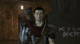 Aurelius, without helmet