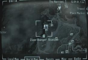 Zion ranger station map marker.png