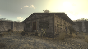 FNV CCC Caravaneer Barracks Ext.png