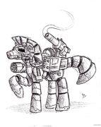 Steelhooves sketch by piecee01-d5eu7le