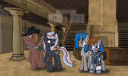 145582 - artist-DarrianMH Calamity duplicate fallout equestria Homage Littlepip Velvet Remedy