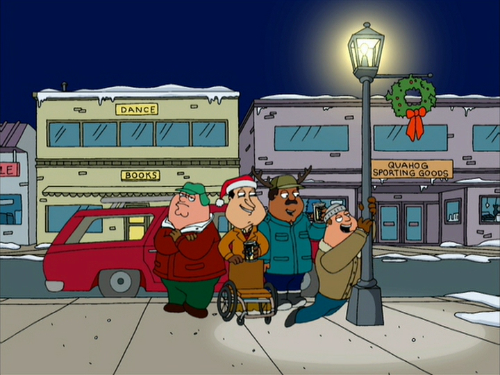 A Very Special Family Guy Freakin' Christmas/Goofs