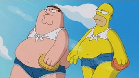 Family Guy and The Simpsons Peter and Homer's Carwash