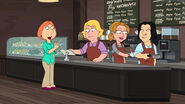 Lois Making Friends at the Coffee Shop