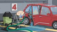 Stewie Washes His Car