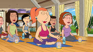 Lois Doing Yoga With the Moms