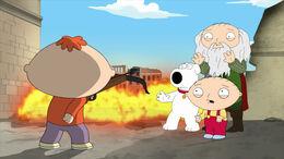 Bertram Ready to Kill Stewie, Brian, and Leonardo.jpg