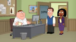 Peter Greets His New Bosses.jpg