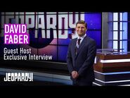 David Faber- Jeopardy! Guest Host Exclusive Interview - JEOPARDY!