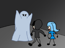 Humanity was disguise as a ghost and scare Unity and Purity.png