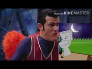 Ghost scares Robbie Rotten Suitcase and Toilet