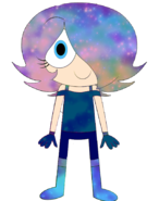 Bloo as space themed outfit