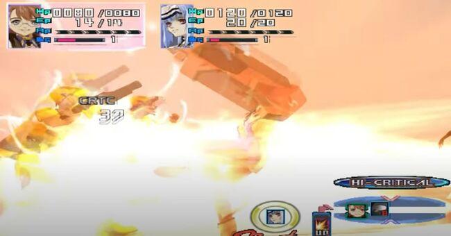 Shion Uzuki Doing a Spin Kick for Xenosaga Episode 1 (12)
