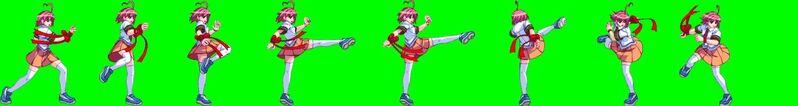Heart Aino Front Spin Kick