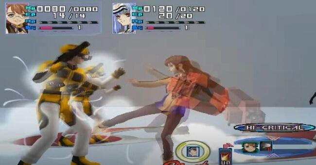 Shion Uzuki Doing a Spin Kick for Xenosaga Episode 1 (4)