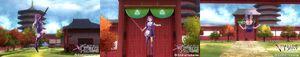 Koharu Tsukikage Outfit Rinka Kagurazaka Jump and Front Roll Action