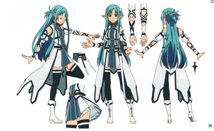 Asuna Yuuki ALO Costume Concept Art for Sword Art Online