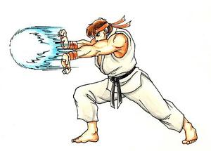 Ryu Doing a Hadoken