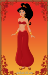 Princess jasmine red outfit by scooterbug1998-d53igv5
