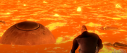 Incredible watches omnidroid sink in the lava.png