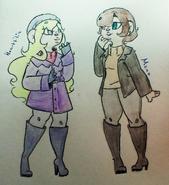 Heartfilia & Mona (Genavive)