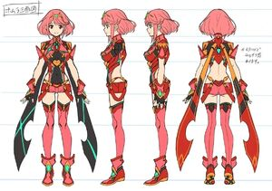 Concept Artwork of Pyra from Xenoblade Chronicles 2