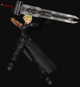 Cloud Strife Wearing Advent Child Outfits
