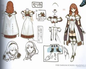 Celica for Fire Emblem Echoes Concept Art