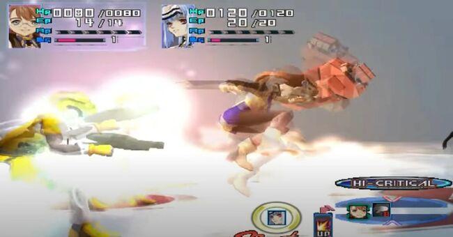 Shion Uzuki Doing a Spin Kick for Xenosaga Episode 1 (7)