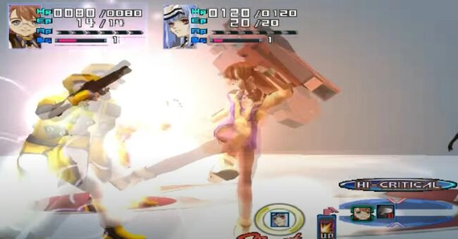 Shion Uzuki Doing a Spin Kick for Xenosaga Episode 1 (5)