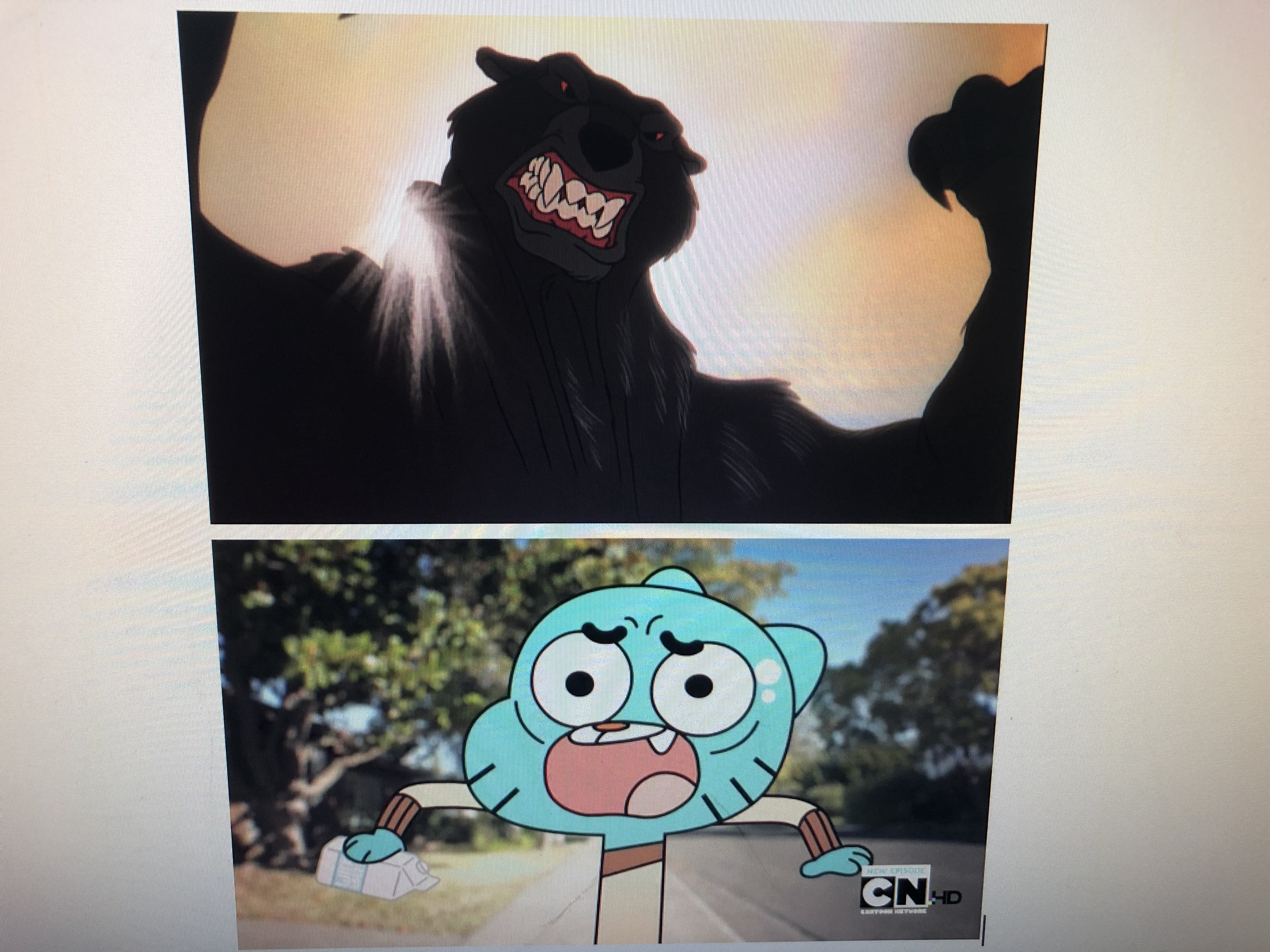 Gumball Watterson Scared of The Bear