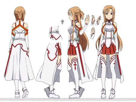 Asuna Yuuki SAO Costume Concept Art 2 for Sword Art Online