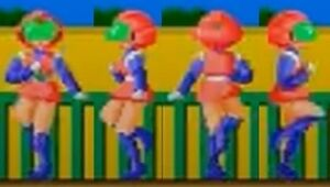 Wonder Momo Doing a Body Spin