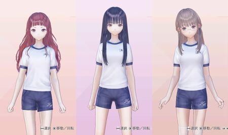 Sarasa, Yuri, Sanae Gym Outfits for Blue Reflection