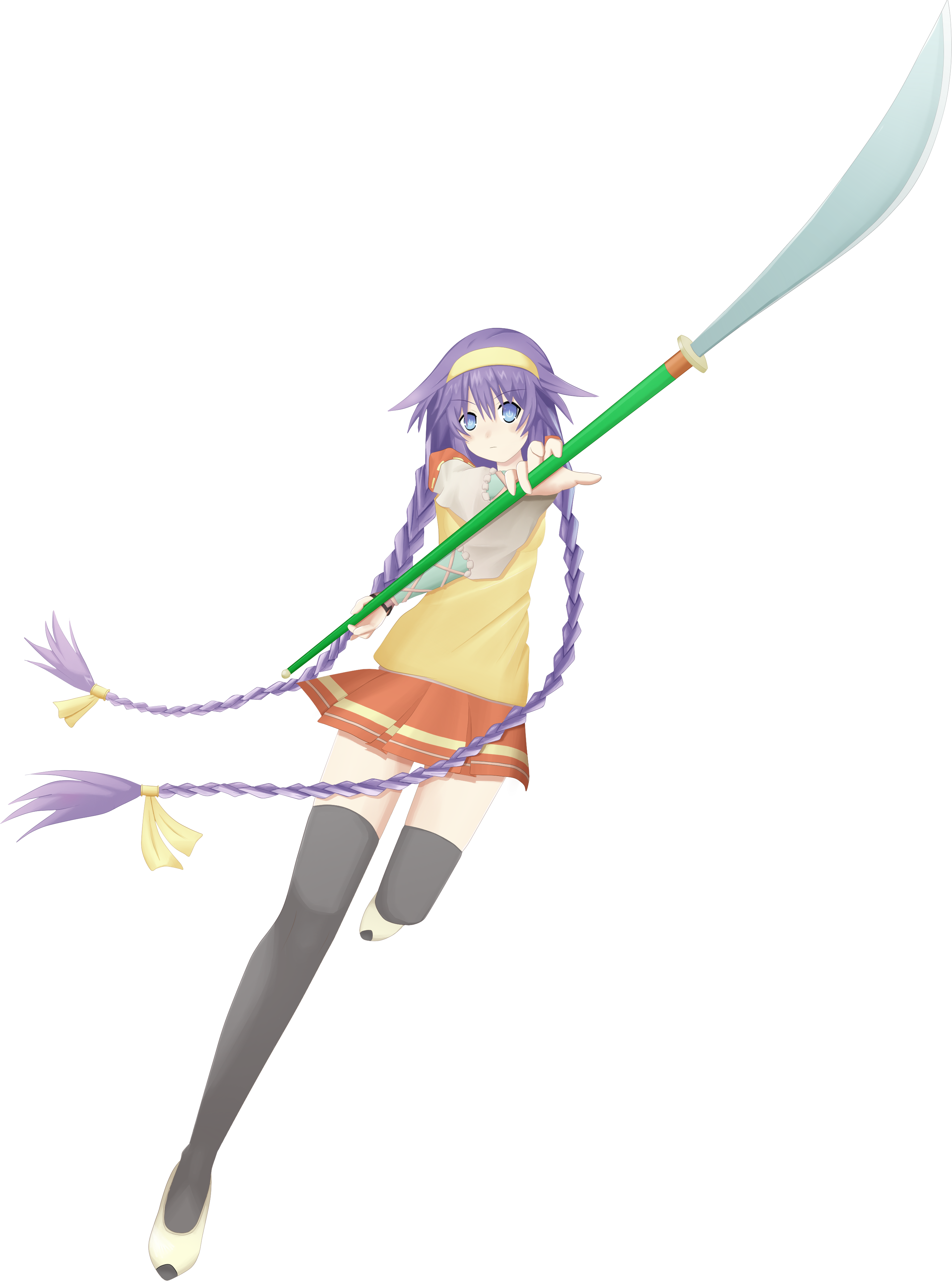 Purple Heart cosplaying as Miko Aiba.png