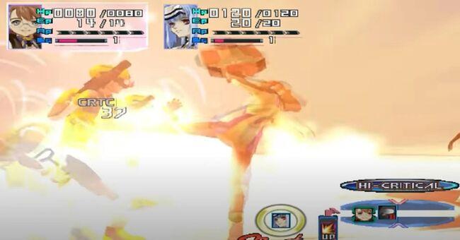 Shion Uzuki Doing a Spin Kick for Xenosaga Episode 1 (10)