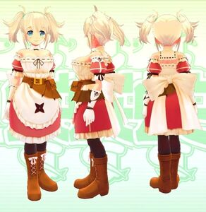 Yomi (Twin Tail and Red Outfit) 3D Model for Senran Kagura Burst Re-Newal