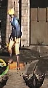Aya Brea Tonfa Baton Swing Front View for Parasite Eve 2 (1)