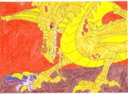 Twilight charges at the Dragon0001