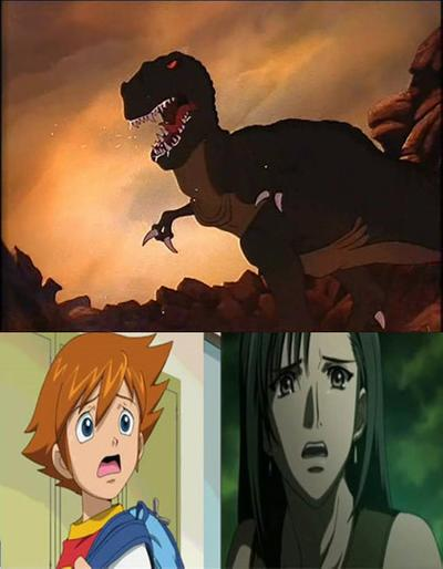 Chris And Tifa Scared of Sharptooth