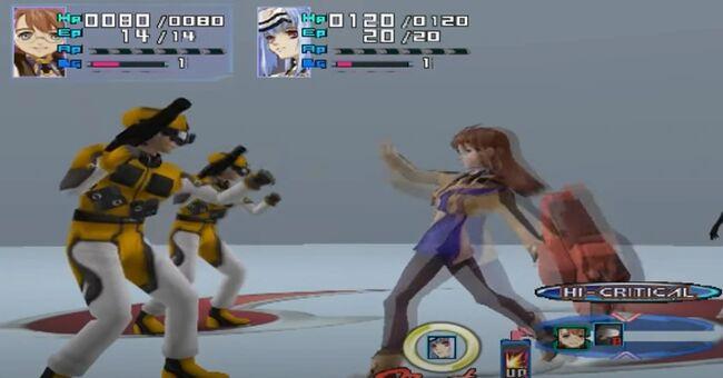 Shion Uzuki Doing a Spin Kick for Xenosaga Episode 1 (2)