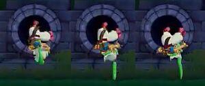 Asha Doing a Rolling Descent for Wonder Boy Ssha in Monster World (3)