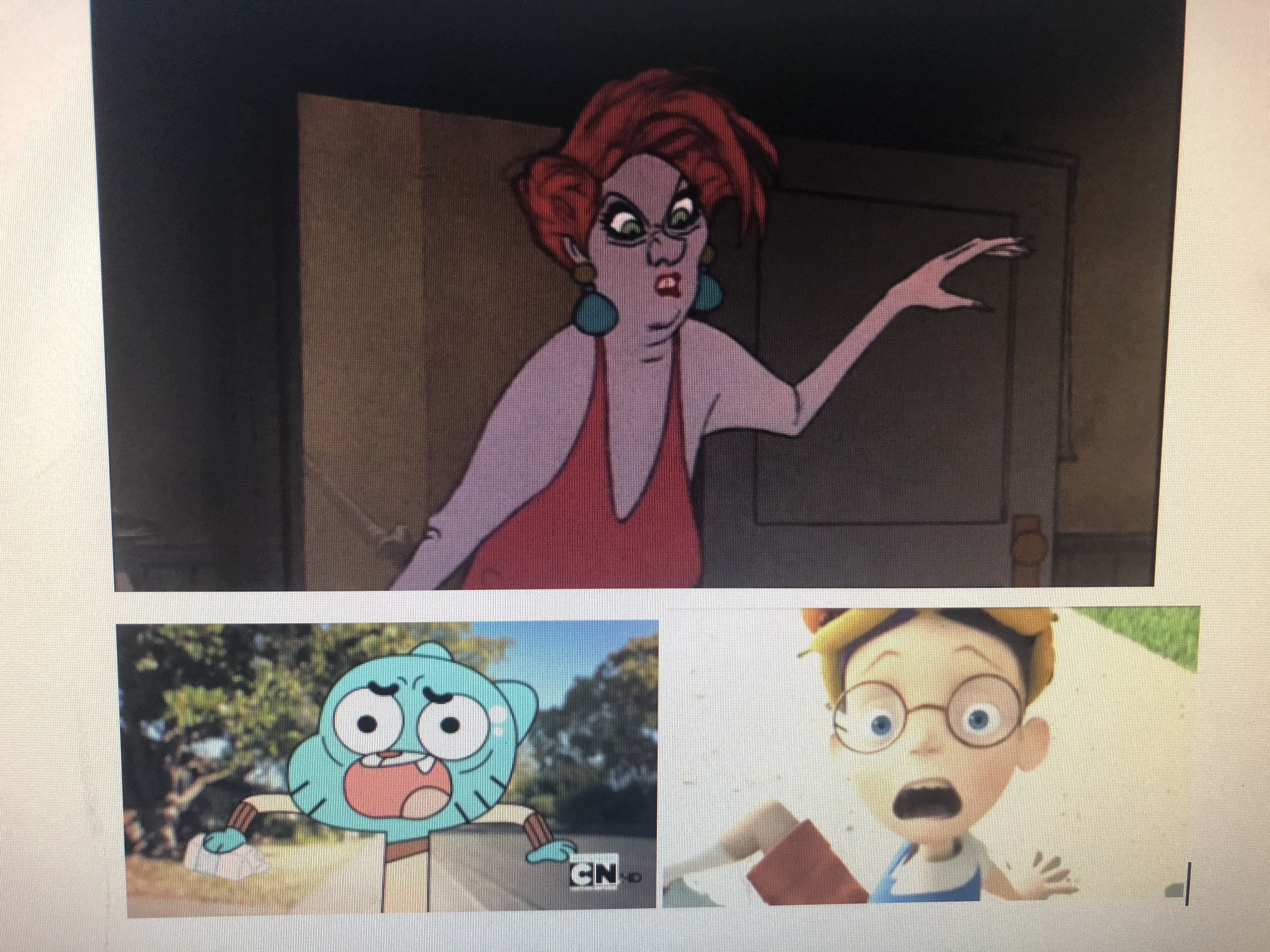 Lewis Robinson and Gumball Watterson Scared of Madame Medusa
