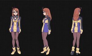 Shion Uzuki Wearing Vector Uniform