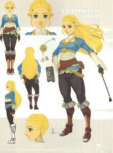 Princess Zelda Concept Art for Legend of Zelda Breath of the Wild