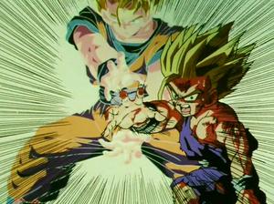 Gohan and Goku Father-Son Kamehameha