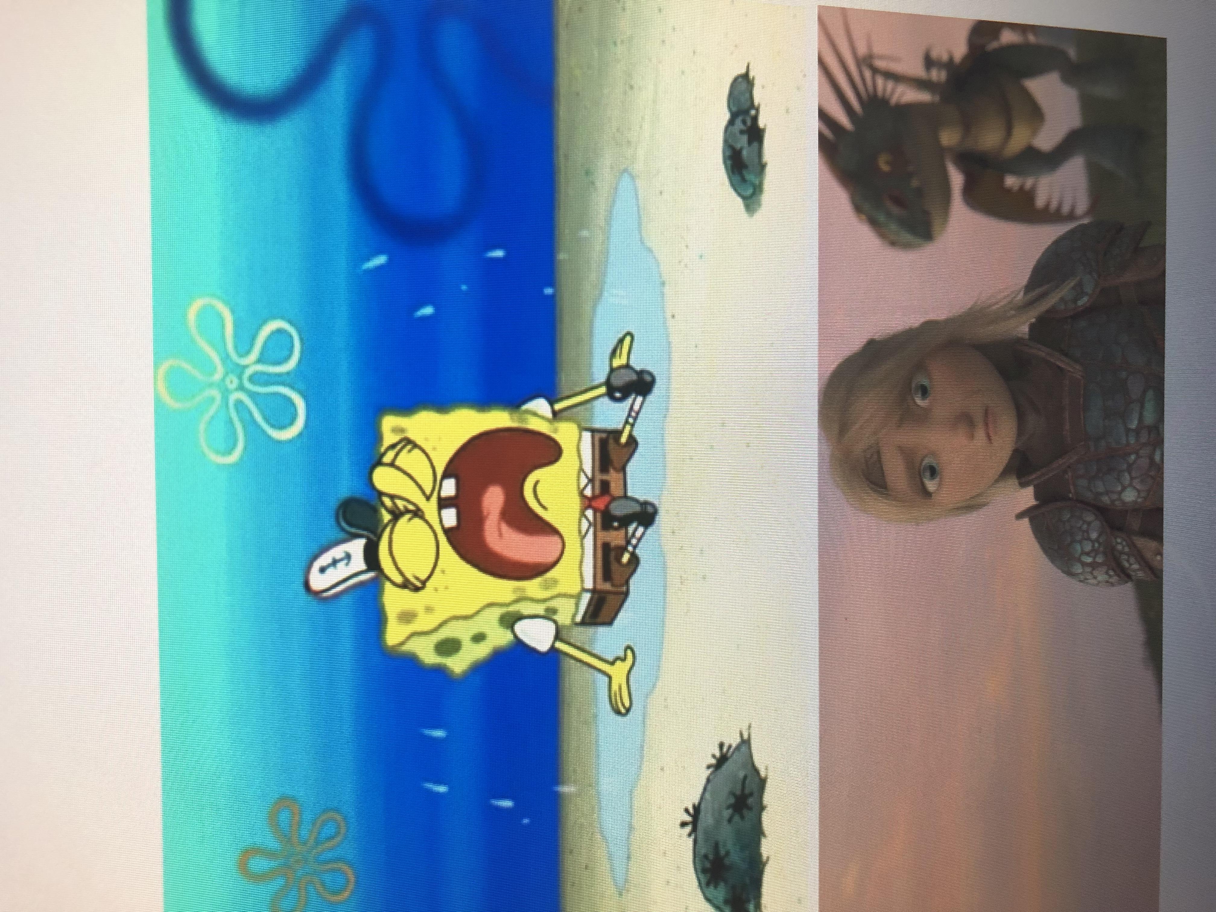 Astrid Feels Bad for Spongebob Squarepants