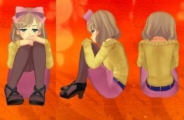 Senran Kagura 2 Hikage (Sexy Sweeter) Physical Education Sitting Pose