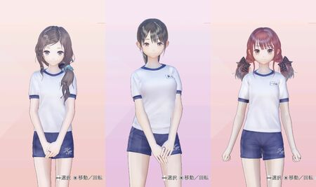 Fumio, Rin, Ako Gym Outfits for Blue Reflection